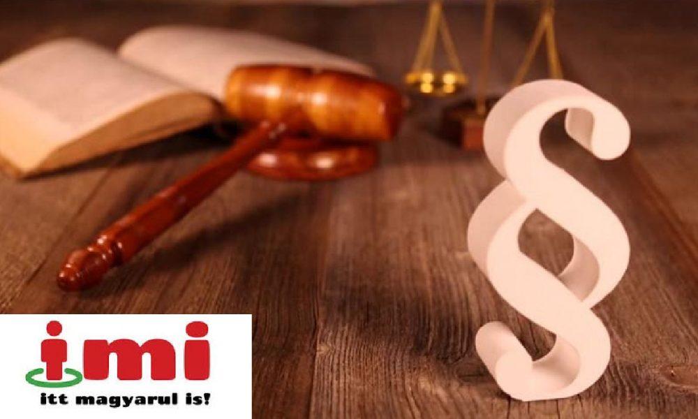 Online folytatódik az IMI ingyenes jogsegélyszolgálata